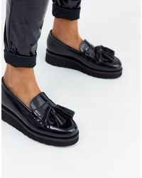 Grenson Черные Кожаные Лоферы На Платформе Clara-черный - Многоцветный