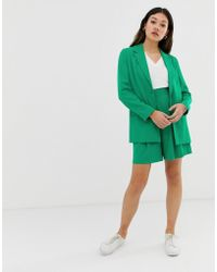 ASOS Pop Green Soft Suit Shorts