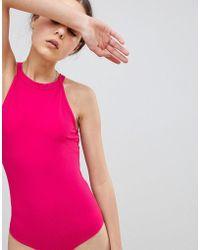 Glamorous - High Neck Sleeveless Body - Lyst