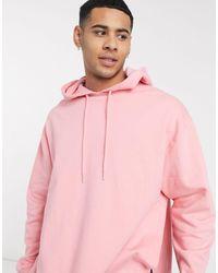 ASOS Oversized-худи Розового Цвета С Широкими Боковыми Разрезами - Розовый