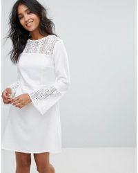 Madam Rage Crochet Insert Dress - White