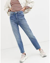 Miss Selfridge Mom Jeans - Blue