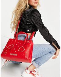 Love Moschino Tote bag estampé - Rouge