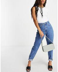 NA-KD High Waist Cocoon Shape Jeans - Blue