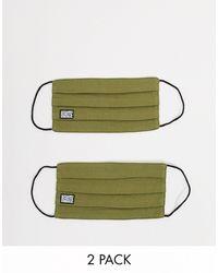 Reclaimed (vintage) Набор Из 2 Масок Для Лица Цвета Хаки -зеленый Цвет