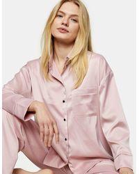 TOPSHOP Satin Pyjama Set - Pink