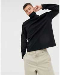 ASOS - Loose Fit Long Sleeve T-shirt With Turtle Neck - Lyst