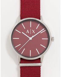 Armani Exchange Бордовые Часы С Нейлоновым Ремешком Cayde Ax2711-красный