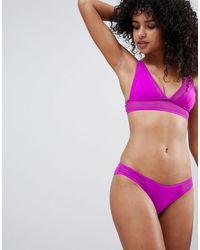 River Island - Scallop Bikini Brief - Lyst