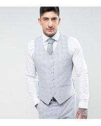 Heart & Dagger - Veston de costume d't pour mariage coupe ajuste en lin carreaux - Lyst