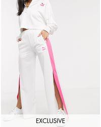 PUMA High Waisted Wide Leg Trousers - Multicolour