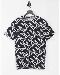 TOPMAN Monogram T-shirt - Black
