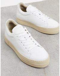 SELECTED Femme Chunky Trainer With Ecru Sole - White