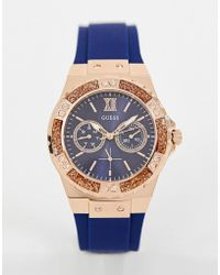 Guess - W1053l1 Limelight Silicone Watch - Lyst