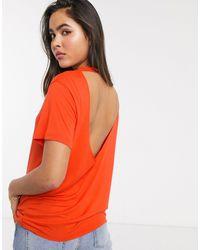 ASOS Open Back T-shirt - Red