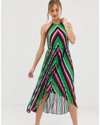 Ted Baker Платье Макси В Полоску С Плиссировкой Shannah - Мульти - Зеленый