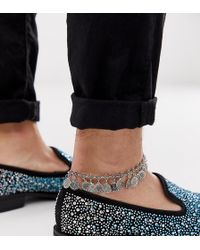 Reclaimed (vintage) - Inspired Anklet With All Over Charm Detail Exclusive To Asos - Lyst