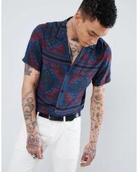 ASOS - Design Regular Fit Paisley Shirt - Lyst