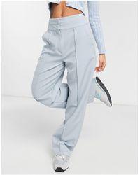 Collusion Pantaloni sartoriali ampi con cut-out - Blu