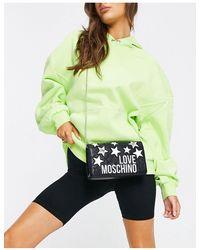 Love Moschino Черная Сумка На Плечо С Логотипом И Звездами -черный Цвет