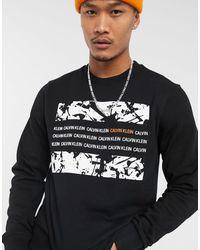 Calvin Klein Черное Боди С Графическим Принтом -черный