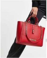 Love Moschino Travel Bag - Red
