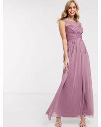 Lipsy Lace Embellished Maxi Dress - Pink