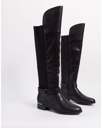 Call It Spring Slouch Knee High Boots - Black