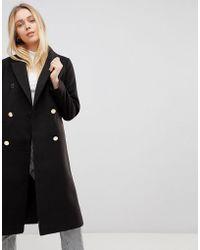 Girls On Film Longline Coat - Black