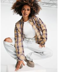 Public Desire Oversized Check Shirt - Multicolour