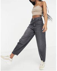 Pimkie Jeans extra larghi a vita alta nero slavato