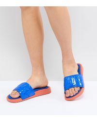 Nike - Benassi Ultra Luxe Slders In Blue - Lyst
