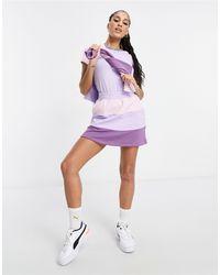 PUMA Сиреневая С Розовым Мини-юбка В Стиле Колор Блок Downtown – Эксклюзивно Для Asos-фиолетовый Цвет - Пурпурный