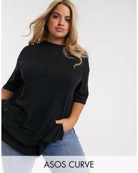 ASOS Asos Design Curve Relaxed Longline T-shirt - Black