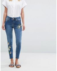 Oasis Embroidered Jeans - Blue