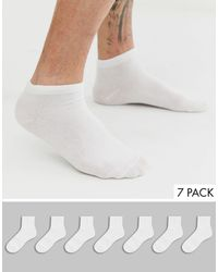 Only & Sons 7 Pack Invisible Socks - White
