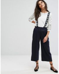 Suncoo Embellished Pinny Pants - Blue
