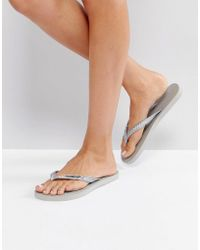9c6b91873de92e Gandys - Slim Line Flip Flops - Lyst