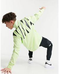 Nike - Свитшот Лаймового Цвета С Короткой Молнией Hybrid-зеленый Цвет - Lyst