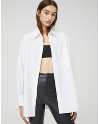 Pull&Bear Poplin Shirt - White