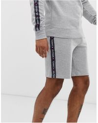 Tommy Hilfiger Authentic Lounge Shorts Side Logo Taping - Grey