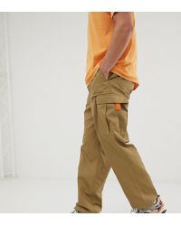 Reclaimed (vintage) - Revived Cargo Trousers In Stone - Lyst