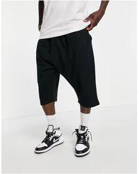 ASOS Co-ord Drop Crotch Jersey Shorts - Black