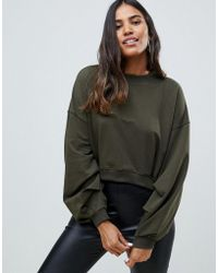 AX Paris - Sweatshirt With Sleeve Detail - Lyst