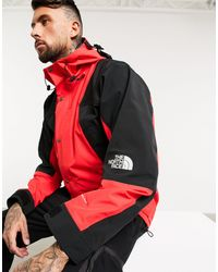The North Face Blouson en duvet rouge et noir 1996 Retro Nuptse