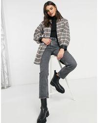Helene Berman Volume Sleeve Short Wool Blend Coat - Pink