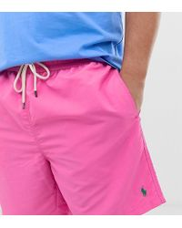 Polo Ralph Lauren Traveler - Short de bain à logo joueur de polo - Rose