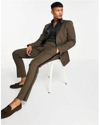 ASOS Skinny Tuxedo Suit Trousers - Brown