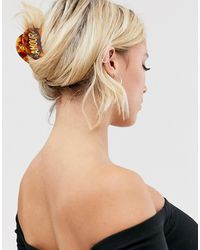 Glamorous Amour Tortoiseshell Hair Claw - Brown