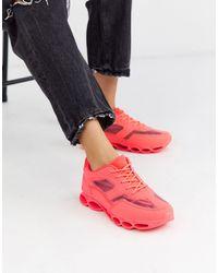 ASOS Detroit Bubble Sole Trainers - Pink